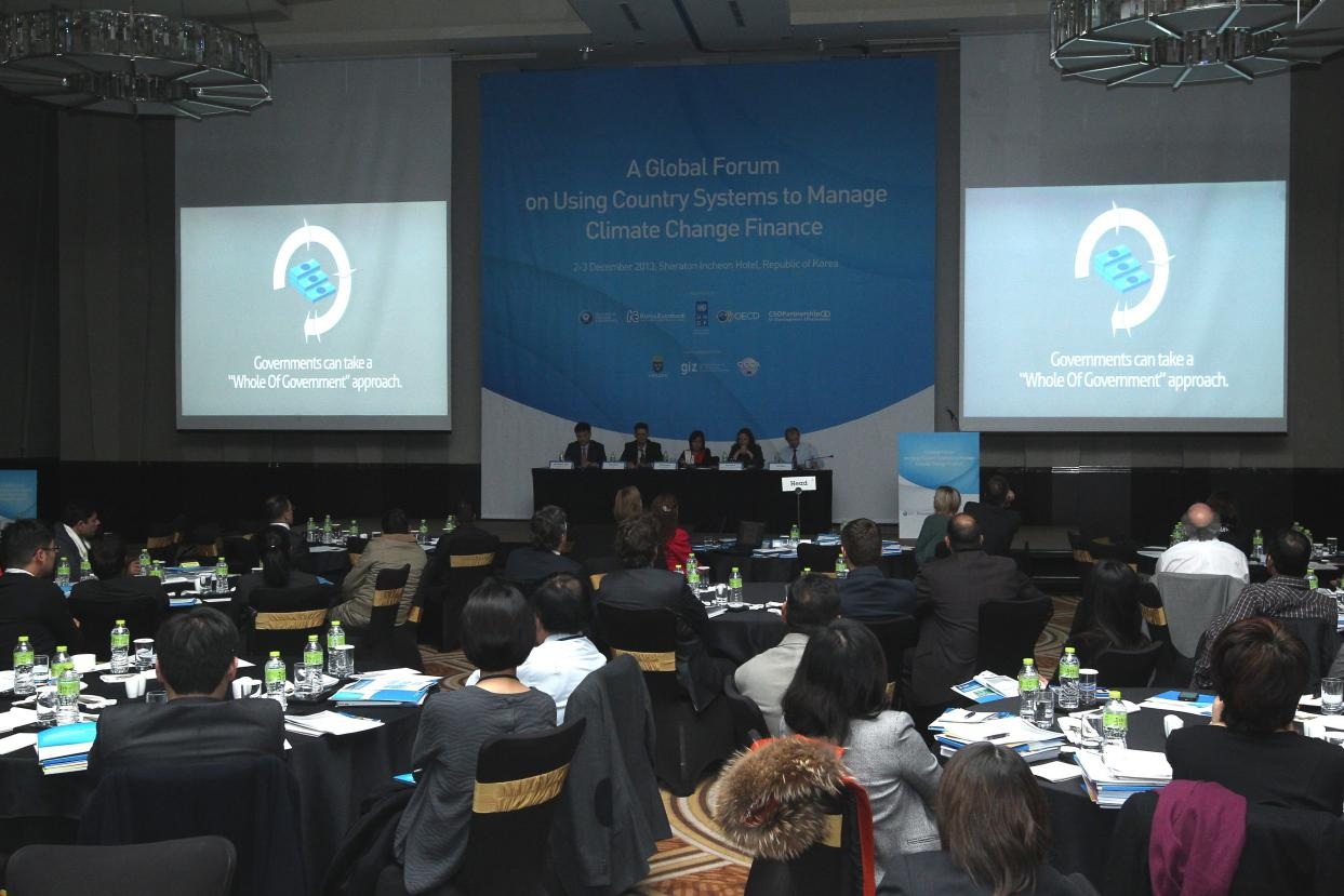 Global Forum On Climate Change Finance And Development Effectiveness, Incheon, Republic of South Korea, 2nd & 3rd December 2013