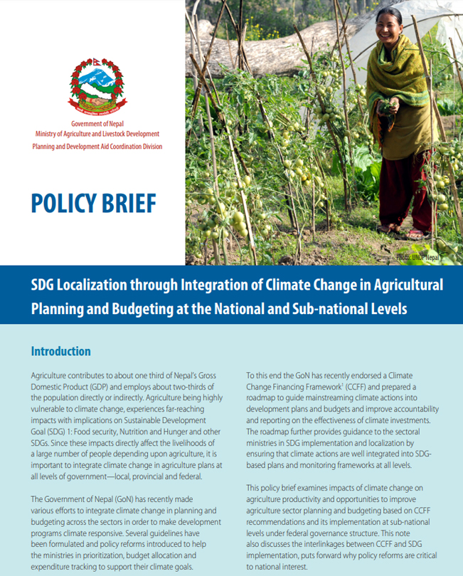 Nepal | Governance of Climate Change Finance for Asia-Pacific